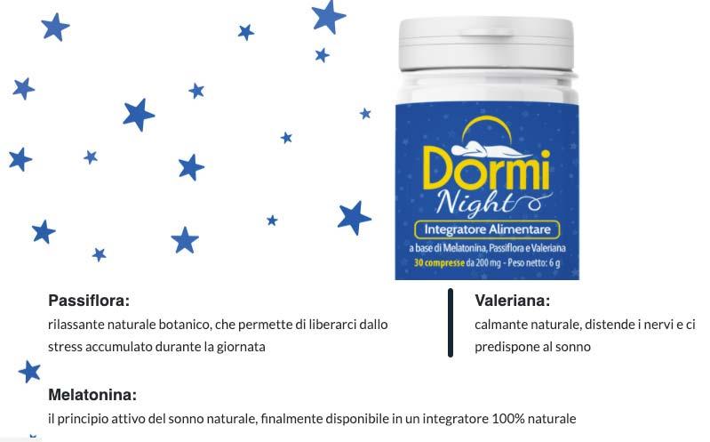Ingredienti di Dormi Night