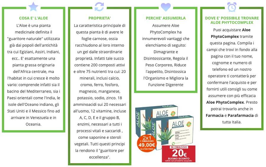 Aloe PhytoComplex benefici e funzioni