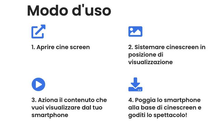 Come si usa CineScreen