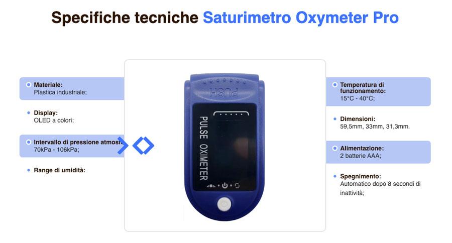 caratteristiche tecniche di Oxymeter Pro