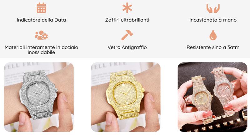 Caratteristiche dell orologio DiamondWatch