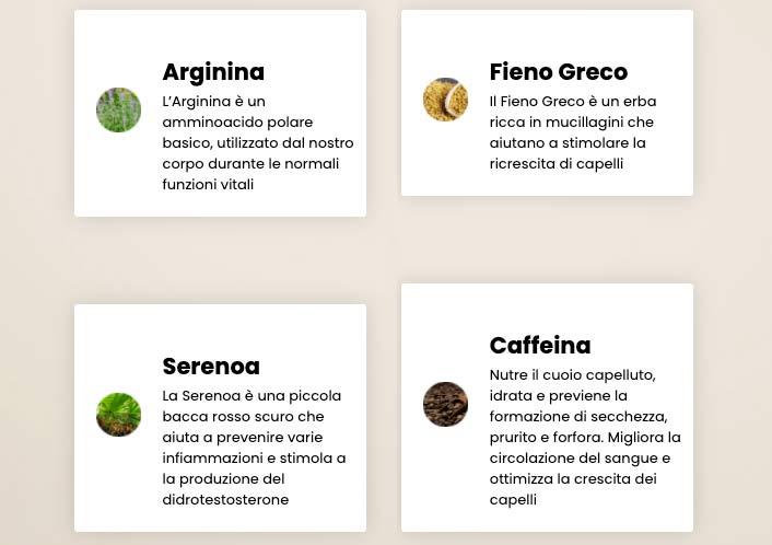 Ingredienti di Seborina Plus